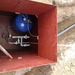 Бурение скважин на воду, установка кессонов с монтажом оборудования, ввод в дом